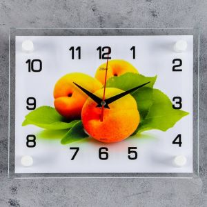 """Часы настенные, серия: Кухня, """"Персики"""", 20х26  см, микс 1072453"""
