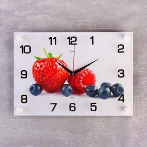 "Часы настенные, серия: Кухня, ""Ягоды"", 25х35 см микс 1409249"