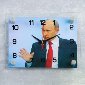 """Часы настенные, серия: Люди, """"В.В. Путин"""", 20х26 см микс 2267853"""