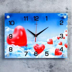 """Часы настенные, серия: Люди, """"Воздушные сердца"""", 25х35  см, микс 1237245"""