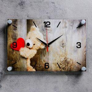 """Часы настенные, серия: Люди, """"Плюшевое сердце"""", 20х30 см 3979117"""