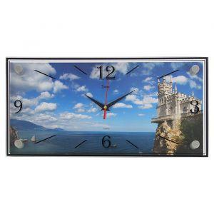 """Часы настенные, серия: Море, """"Дворец Ласточкино гнездо"""", 19х39  см, микс 1256496"""