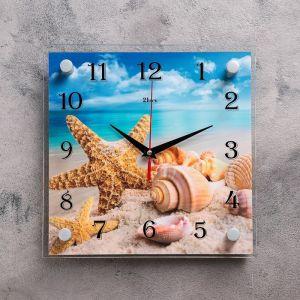 """Часы настенные, серия: Море, """"Морская звезда"""", 25х25  см, микс 1178399"""