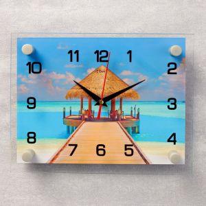 """Часы настенные, серия: Море, """"Пляж"""", 20х26 см 3979110"""