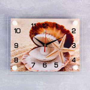 """Часы настенные, серия: Море, """"Ракушка"""", 20х26  см, микс 1061694"""