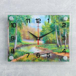 """Часы настенные, серия: Природа, """"Плотина в лесу"""", 20х26  см, микс 1178393"""