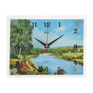 """Часы настенные, серия: Природа, """"Природа у реки"""", 20х26 см 1141451"""