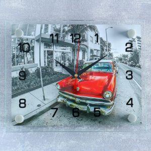 """Часы настенные, серия: Транспорт, """"Ретро автомобиль"""", 20х26 см  микс 2267885"""