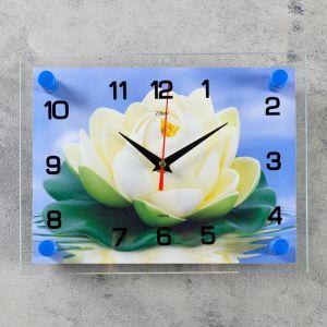 """Часы настенные, серия: Цветы, """"Кувшинка"""", 20х26  см, микс 1141453"""