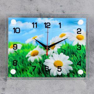 """Часы настенные, серия: Цветы, """"Ромашки"""", 20х26  см, микс 1103771"""