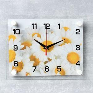 """Часы настенные, серия: Цветы, """"Ромашки"""", 20х26 см  микс 2267864"""