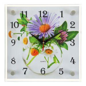 """Часы настенные, серия: Цветы, """"Ромашки"""", 25х25 см 2267936"""