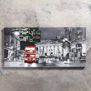 """Часы настенные, серия: Город, на холсте """"Лондон"""", 40х76  см, микс 2045182"""