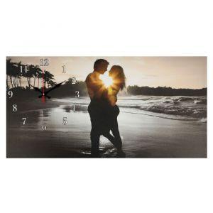 """Часы настенные, серия: Люди, на холсте """"Влюбленная пара"""", 40х76  см, микс 2045175"""