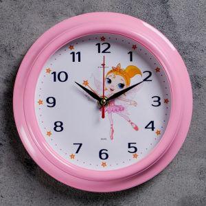 "Часы настенные ""Маленькая фея"", ""Рубин"", 21х21 см 2566677"