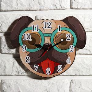 """Часы настенные детские """"Собачка"""", 24 см  микс  3734017"""