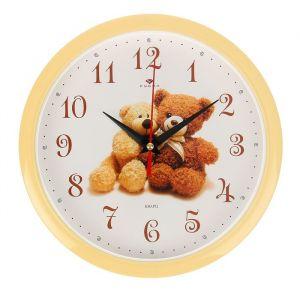 """Часы настенные, серия: Детские, """"Мишки"""", 22х22 см 2566688"""