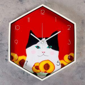 """Часы настенные, серия: Детские, """"Персик"""", 34х41 см   4432451"""