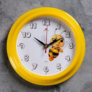 """Часы настенные, серия: Детские, """"Пчелка"""", 21х21 см 2566675"""