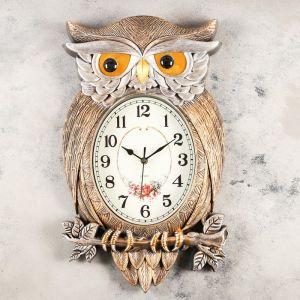 """Часы настенные, серия: Животные, """"Символ мудрости"""", 32х51 см   4469763"""