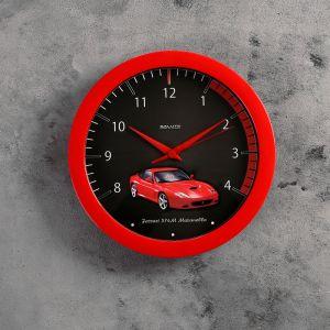 """Часы настенные круглые """"Sports car"""", красные, детские"""