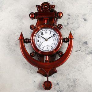 """Часы настенные, серия: Море, """"Каракка"""", с маятником  29х39 см   4469767"""