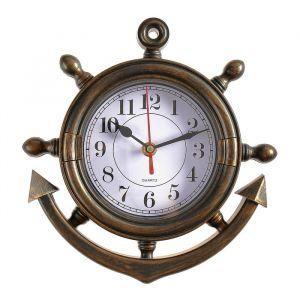 """Часы настенные, серия: Море, """"Якорь"""", коричневые, 23х24 см микс 834807"""