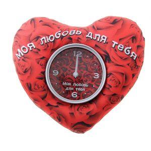 """Часы настольные """"Моя любовь для тебя"""", 19х16 см, циферблат  d-8.8см 760847"""