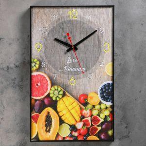 """Часы настенные, серия: Кухня, """"Тропические фрукты"""", 37х60 см 4812330"""