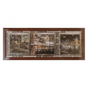 """Часы-картина настенные, серия: Город, """"Story Bridge"""", 35х100  см, микс 1222605"""