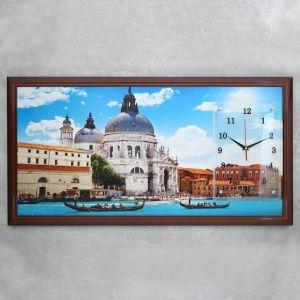 """Часы-картина настенные, серия: Город, """"Венеция"""", микс 50х100 см 1210523"""