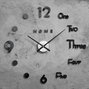 """Часы-наклейка DIY """"Аба"""", чёрные, d=70 см, плавный ход   4757208"""