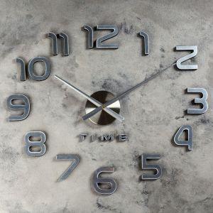 """Часы-наклейка DIY """"Акстелл"""", серебро, 70 см 1306701"""