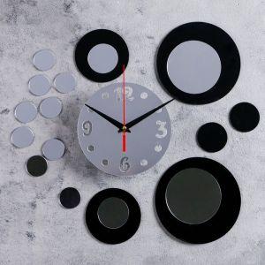 """Часы-наклейка DIY """"Иллюзия"""" d=15 см, плавный ход, тип батарейки 1 АА   4632054"""