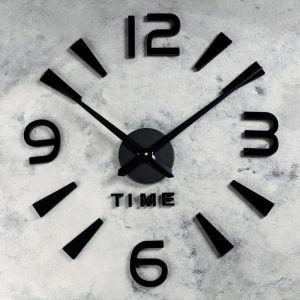 """Часы-наклейка DIY """"Кавалье"""", чёрные, 120 см 2366734"""