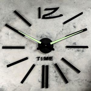 """Часы-наклейка DIY """"Кайро"""", флуоресцентные стрелки, 120 см 1306698"""