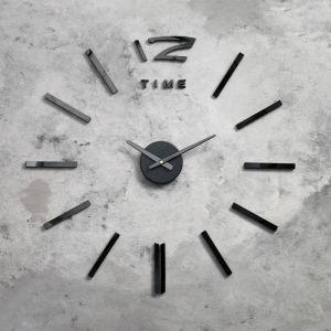 """Часы-наклейка DIY """"Кайро"""", чёрные, 65 см 2768033"""