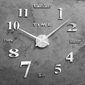 """Часы-наклейка DIY """"Клермонт"""", серебро, 120 см 1306699"""