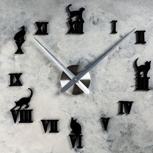 """Часы-наклейка DIY """"Кошечки"""", 120 см 1306705"""