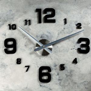 """Часы-наклейка DIY """"Эндерлин"""", чёрные, 120 см 2366727"""