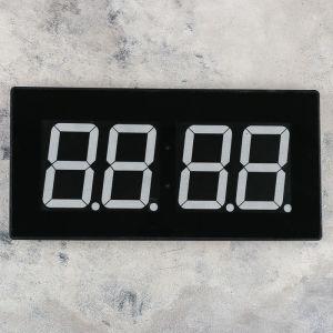 """Часы настенные электронные """"Элегант"""", синие цифры, 47.5х3.5х23 см 2316596"""