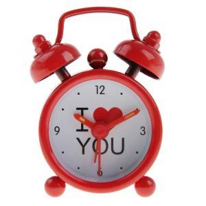 """Будильник """"I love you"""", d=4 см, красный, микс 155516"""