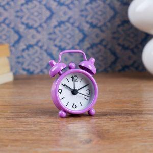 """Будильник """"Классика"""", d=4 см, фиолетовый 840937"""