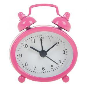 """Будильник """"Классика"""", овальный, розовый, белый циферблат 7х5.5 см 840946"""