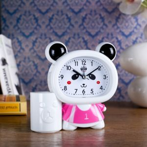 "Будильник ""Панда"",13.5х14.5 см, микс 3975152"