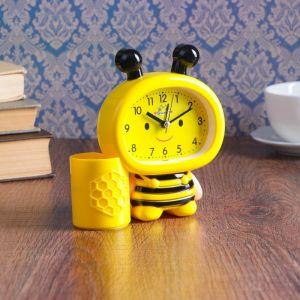 """Будильник """"Пчела"""", желтая,  13.5х14.5 см 3975151"""