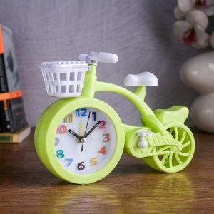 "Часы будильник ""Велосипед"", 19.5х14.5х4 см, микс   4599094"