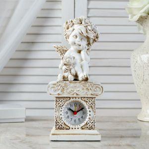"Часы настольные  ""Ангел с медведем"", h=24 см 3940709"
