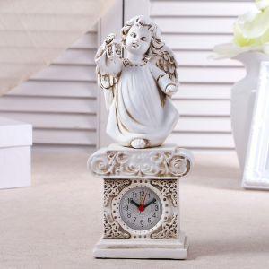 """Часы настольные """"Ангел с фонариком"""", h=25 см 3940691"""