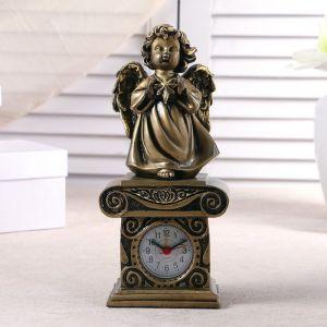 """Часы настольные """"Ангел со звездочкой"""", цвет золото, h=25.5 см 3940705"""